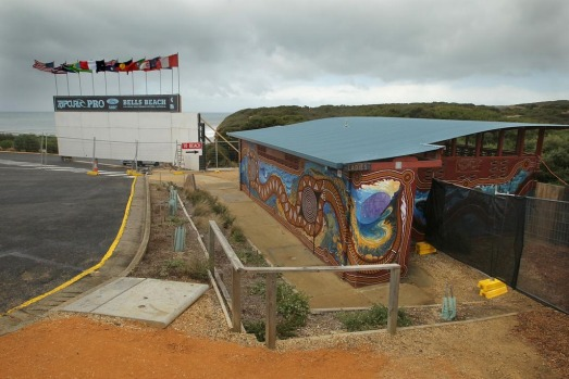 The Bells Beach toilet block, male, a ten stand urinal and four cubicles, (one for disabled). Frequented not only by ...