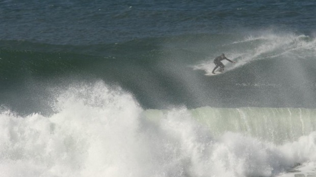 Surfing action at Bells Beach.