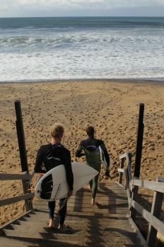 Local surfers at Bells Beach.