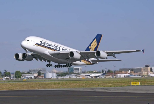The replacement ... a Singapore Airlines A380 superjumbo.