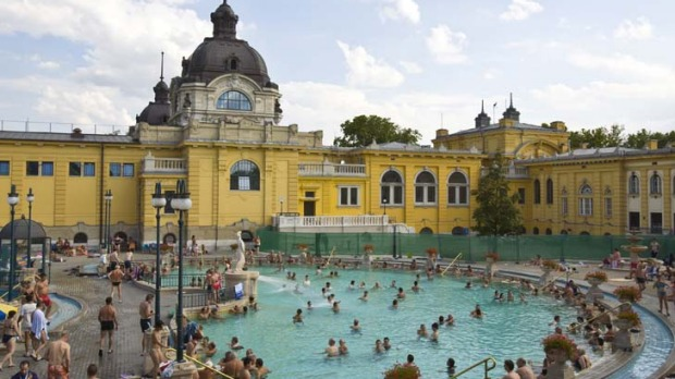 Szechenyi Baths ... one of the largest thermal bathing complexes in Europe.