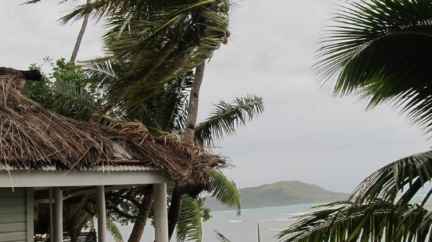 The island of Nacula is getting back to business after a close call with a cyclone.