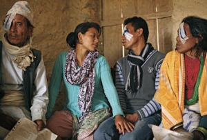 The look of love … 22-year-old Sudip Lama and his wife of two months, Kamala.