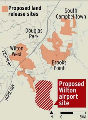 Second airport ... a report commissioned by the federal Transport Minister, Anthony Albanese, identified Wilton as a ...