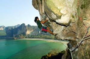Elemental ... rock climbing at Railay Beach.