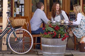 Ride on ... refuelling at Beechworth Provender.