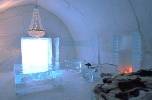 Cold comfort ... the Icehotel in Jukkasjarvi.