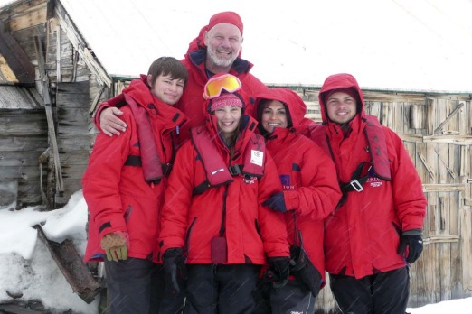 Fairfax columnist Peter Fitzsimons and his wife Lisa Wilkinson, host of 'The Today Show' with their family at Perisher.