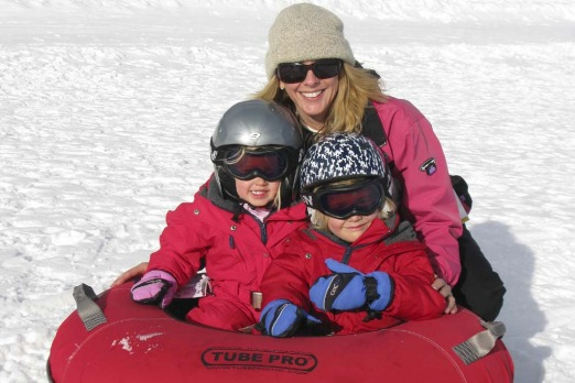 Tracey Spicer and her family enjoy Perisher.