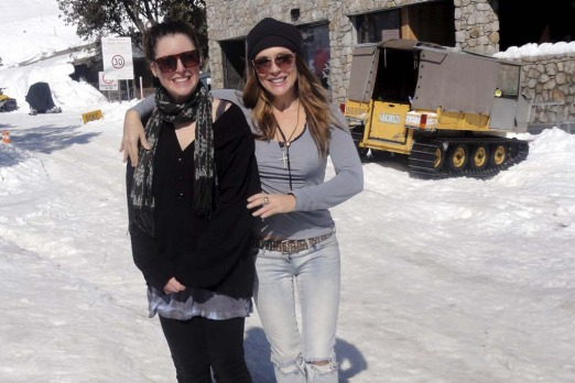 Actress Tottie Goldsmith and her daughter Layla enjoy Falls Creek.