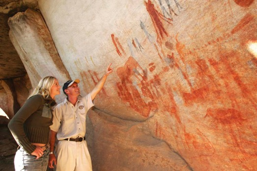 Bushmans Kloof is home to more than 130 ancient rock art sites, created by the San people (the 'bushmen' for which the ...