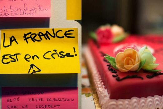 Saint Denis: <i>what will Sarkozy's response be - let them eat cake</i>