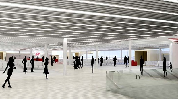 Artist's impression of the planned Virgin Australia terminal at Sydney Airport.