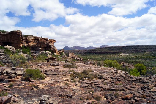 Where's the cairn? Rocky landscapes surround Bushmans Kloof.