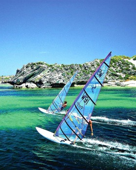 Windsurfing at Rottnest Island.