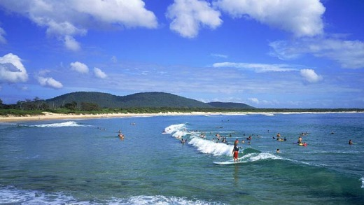 Surfs up ... Crescent Head is a favourite with a longboard riders around the world.