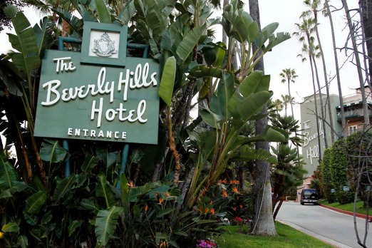 The entrance to the Beverly Hills Hotel as it appears today.