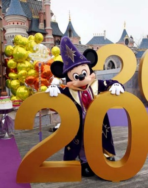 Mickey Mouse helps Disneyland Paris celebrate its 20th birthday.