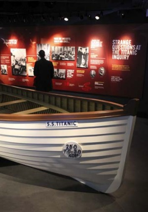 A boat in the exhibition.