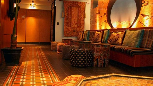 The colourful Marrakech Hotel.