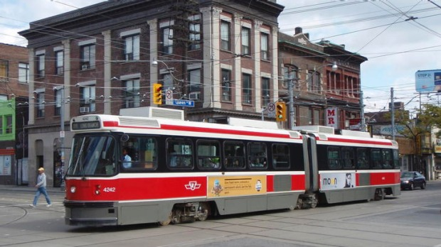 With trams and grungy shops, Queen Street West resembles Brunswick Street.