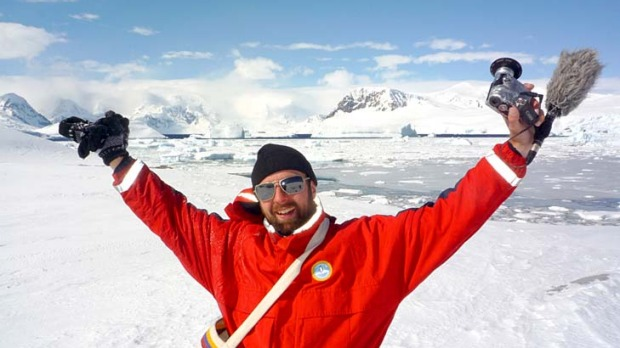 Michael Wigge made it to Antarctica at the end of a 40,000km trip that began in Berlin. Wigge made the journey for free ...