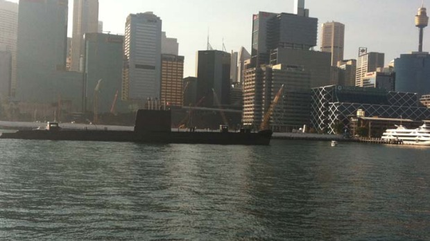 Freshening up  ...  HMAS Onslow on its way across the harbour to Garden Island for a major overhaul.