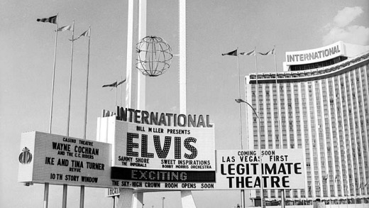 Flashback to an Elvis concert at the International Hotel, 1969.