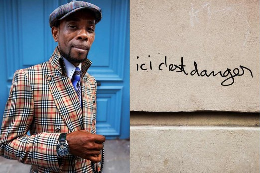 Chateau Rouge: <i>for one thing, Jean is wearing Burberry Nova with a purple tie and tartan cap. Dangerous!</i>