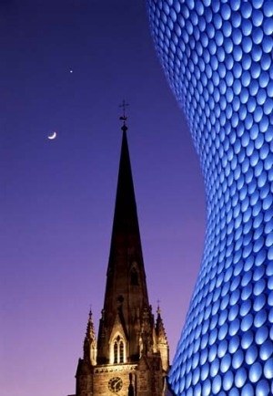 St Martin's Cathedral and Bullring Selfridges.