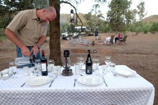 On the Arkaba Walk, meals are prepared by chef Richard Corcoran at the station homestead and then cooked over an open ...