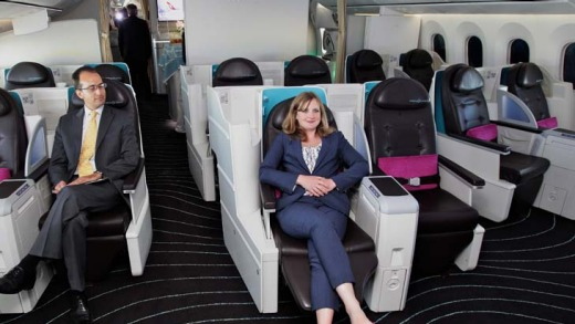 Business class seating.