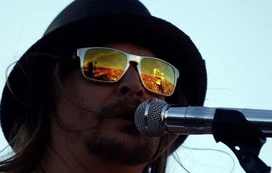Musician Kid Rock performs on the cruise.