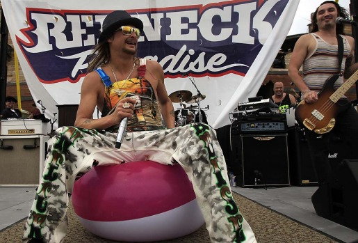 Musician Kid Rock performs on the cruise for fans.
