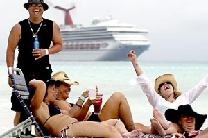 Kid Rock fans hit 'Redneck Paradise' during the cruise.
