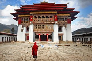 One of the kingdom?s remote monasteries.