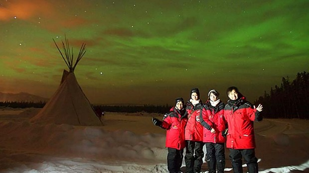 Shimmering skies... witnessing the northern lights in Canada?s Yukon territory.