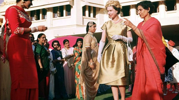 Royal road... the Queen visits Pakistan in 1961.
