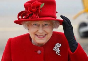 The Queen at Holyhead, Wales.