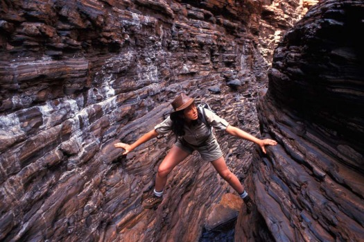 Journey to the centre of the earth. Hancock Gorge, Karijini National Park, Western Australia.