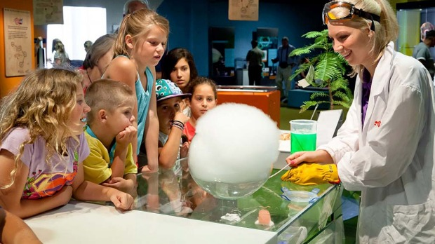 Kids and adults can enjoy experiments and exhibitions at Q Lab, Questacon.