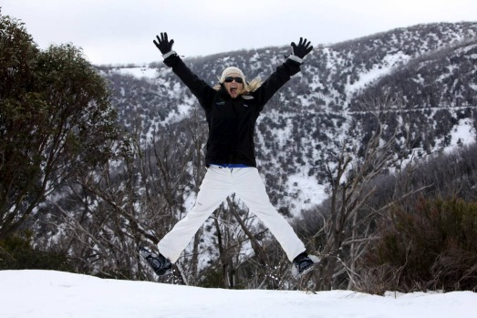 Lavinia Nixon enjoys Falls Creek Opening Weekend of the Victorian Ski Season