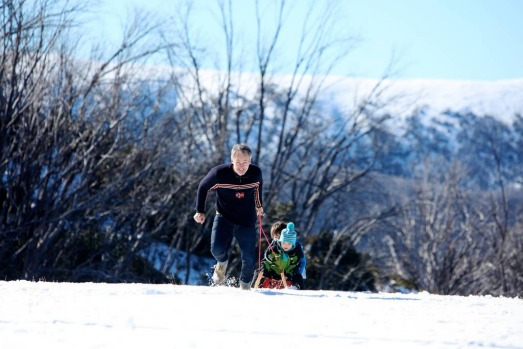 Peter Bennetts with his sons Wolfi 7 & Magnus 3, at Falls Creek for the Opening Weekend. Good early season snowfalls and ...
