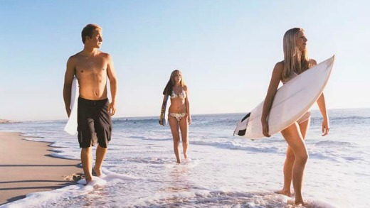Beach life ... San Diego offers a diverse glimpse into California's summer lifestyle.