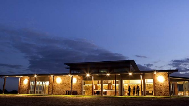 Distinct characters ... O'Leary Walker Wines at dusk.