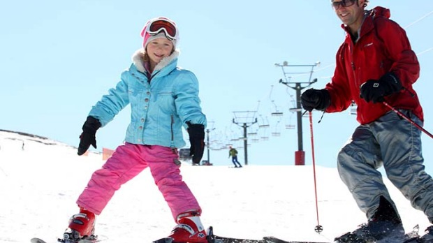 The perfect fit ... learning to ski at Coronet Peak, New Zealand.