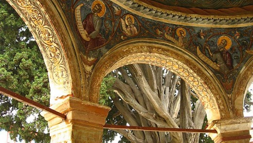 Frescoes at Great Lavra monastery.