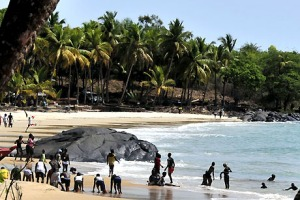 Tokeh Beach, near Freetown, Sierra Leone.