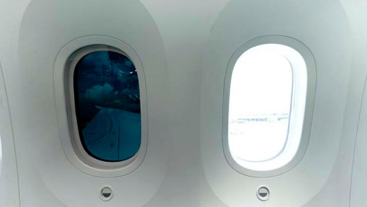 One of the Boeing 787 Dreamliner's cutting-edge features is its electronically dimmed windows, but launch customer ANA ...