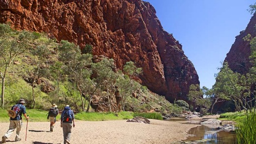 The first day's walk at Simpsons Gap.